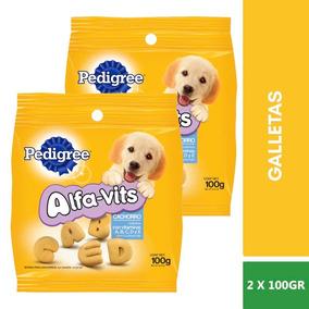 2bolsas Pedigree Galleta Botana Alfavits Cachorro Puppy 100g
