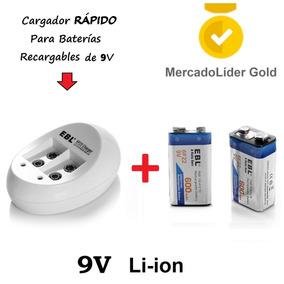 Combo | 2 Baterias Recargables 9v 600mah + Cargador