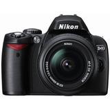 Kit De Cámara Nikon D40 Slr Con 6.1mp Digital 18-55 Mm F / 3