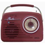Spica Sp110 Radio Vintage Am/fm Usb Bluetooth Slot Sd Mp3