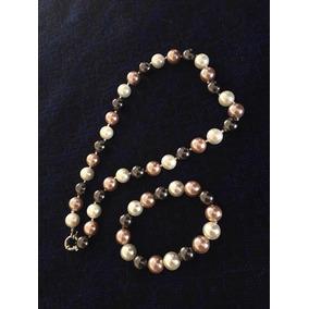 3f43e2a12b48 Cadena Collar Niña Joyería Joven De Moda. Chiapas · Collar Y Pulsera De  Perlas De Colores
