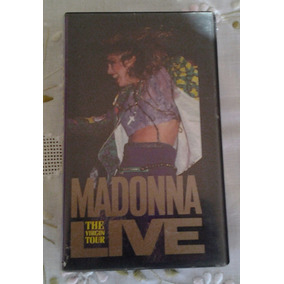 Fita Vhs Madonna Live The Virgin Tour (show) 1985