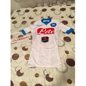Jersey Napoli Nápoles Italia Blanco Visita Kombat Jugador 29790038bf9d0