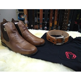 Kit Country Botina + Cinto + Camisa Polo - Frete Grátis!