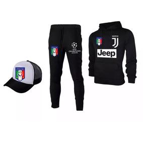 Blusa Moletom+calça+boné Tracker Time-do Juventus - Promoção a16ca9b9936