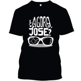 Camiseta Camisa E Agora Jose Preta Branca 65b79507c9e