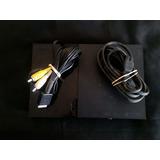 Consola Playstation 2 Negro Con Cables + Memory Card