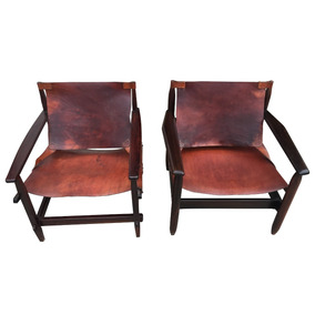 Par De Cadeiras Estilo Kilin Design Sérgio Rodrigues