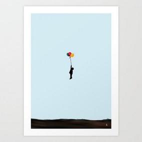 Pôster Balões Arte Decoração Print