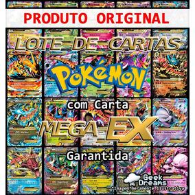 Kit Lote Pokémon 50 Cartas + Mega Ex + Lendário + Brinde