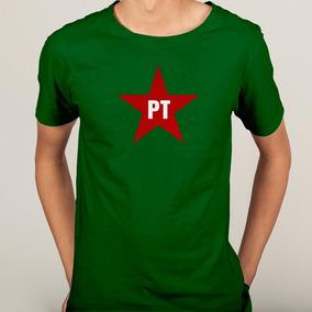 fe7c02e2f1 Camisa Pt Partido Dos Trabalhadores Esquerda - 6 Cores