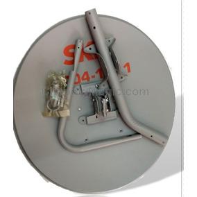 1 Antena Ku 60cm+ 1 Lnb Duplo + 1 Kit Cabo