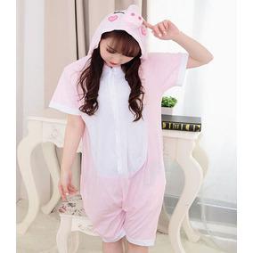 Pijama Corta Cerdito Kigurumi Disfraz Verano Puerquito