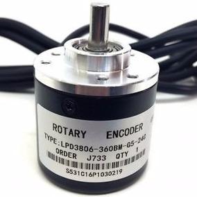 Encoder Rotatorio Incremental En Cuadratura 600 P/r Eje 6mm