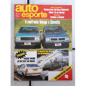 Revista Auto Esporte N 201 Voyage Chevette Passat Coleção