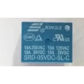 Rele Songle Srd-05vdc-sl-c 10a 5 Pinos - 5 Pçs