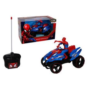 Cuadrimoto R/c Con Figura Spiderman
