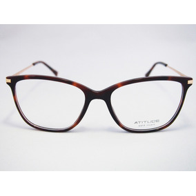 7b3239f3876af Armacao Oculo Feminina Atitude - Óculos no Mercado Livre Brasil