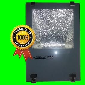 Kit 02 Refletor P//lâmpada Hqi 70w Ou 150w C/ Alojamento