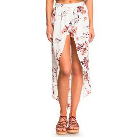 Faldas Larga Dama Blanco Estampado Floreado Descubierto Roxy
