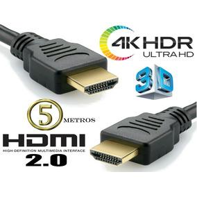 Cabo Hdmi 5 Metros 2.0 - Mxt - M. Full