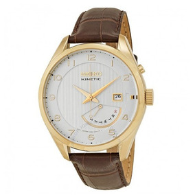 262c7c07ce1 Relógio Seiko Classic Kinetic Marrom branco dourado Couro. R  1.999