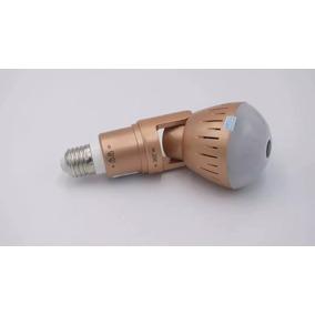 Nova Lampada Camera Espia Paronamica 360g Infravermelho Hd