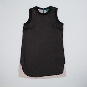 Vestido Combinado Negro/beige Drbell06/13 Tienda Oficial