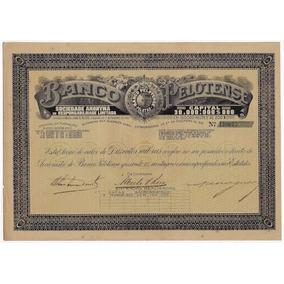 Brasil 1920 Ação Do Banco Pelotense No Valor De 200.000 Réis