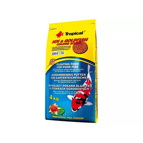 Ração P/ Carpas E Kinguios Tropical Colour Sticks Saco 4kg