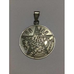 Dije Tetragramaton Pentagrama En Plata .925