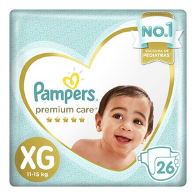 Fralda Pampers Premium Care Xg Pacote 26 Unidades