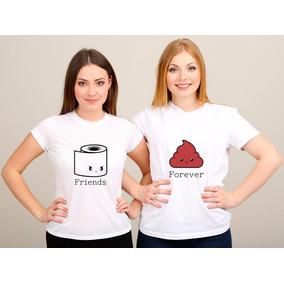 Camiseta Melhor Amiga Camisetas Manga Curta Para Feminino No