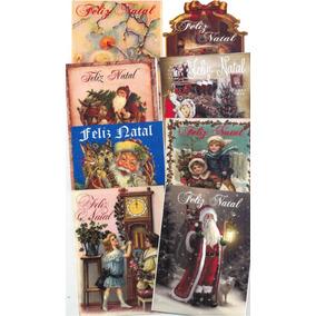 Cartões De Natal Vintage C/100 Unid. +100 Env. Modelo 02