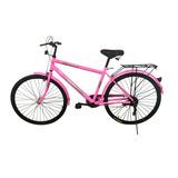 Bicicleta Nigabike Rodado 26 Rosa Con Parrilla Trasera Ub-ub