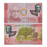 Billete Costa Rica 1000 Colones 2013 Polímero Unc