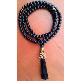 Rosario Budista Tibetano * Agata Negra Y Om Chapa De Oro