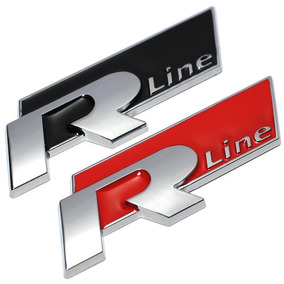 Emblema R-line Vw Metal Jetta Polo Golf Fox Up Gol Tuning