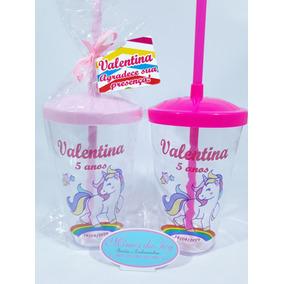 Copo Twister Unicórnio Rosa 50unid Personalizado + Brinde