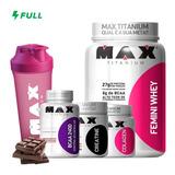 Kit Feminino Ganho De Massa Muscular - Max Titanium