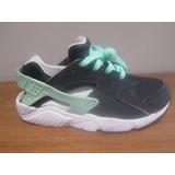 Tenis Nike Huarache Run Color Negro Aqua Talla 23cm C564