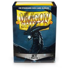 100x Sleeves Dragon Shield Magic The Gathering Matte Jet