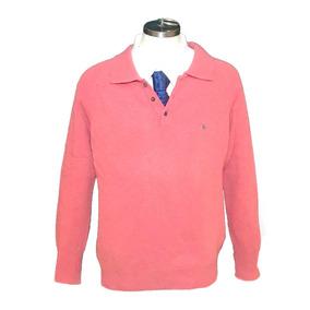 Playera Tipo Sweater Burberry Original 100% Lana Rosa Xl