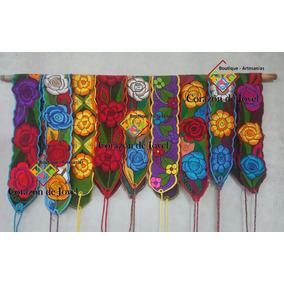 Lote De 6 Fajas Artesanales Con Bordado Florido De Chiapas