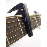 Capotraste De Metal Phx-22 Bk Para Violão E Guitarra