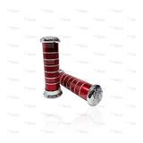 Juego Puños Universales P/moto Rojo/cromo Metálicos Titanium