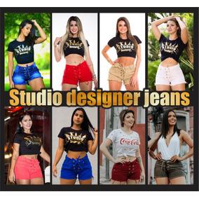 Kit C 10 Short Jeans C Lycra Modelo Cadarco Studio Designer