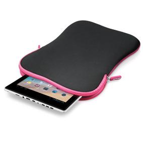 Capa Luva Pasta Case Multilaser Para Tablet 10 Preto E Rosa