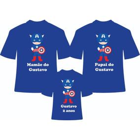 Camiseta Personalizada Capitao America - Camisetas Manga Curta no ... 68b48c86f01