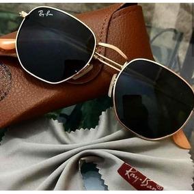 f2f6272aaae38 Óculos Ray-ban Hexagonal Dourado Unissex Rb3548 Original